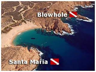 Santa Maria dive map