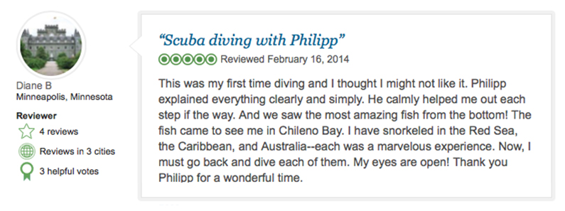 TripAdvisor Review - scuba in Cabo