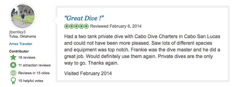 Tripadvisor Review - Private Charters in Cabo