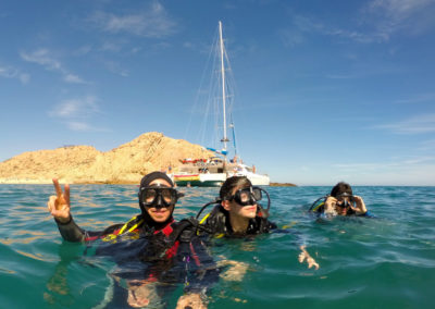 Diving in Santa Maria Bay, Cabo San Lucas