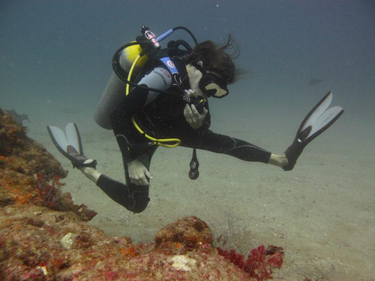 diver in Cabo Pulmo